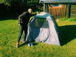 Wild camping somewhere. So fun!