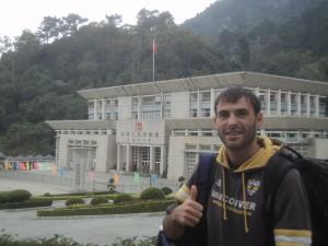Viajando a dedo por China.