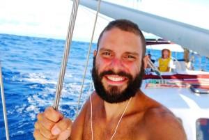 Sailing across Indian Ocean.
