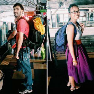 traveling with Rachel.