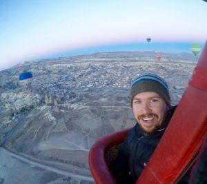 Will Hatton in Capadoccia.