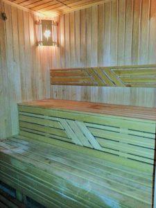 sauna at Ambassador Hotel.