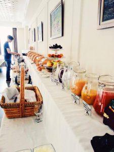 Breakfast at Ambassador Hotel.