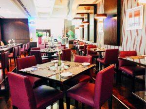 Buffet in Petals Restaurant at Time Oak Hotel.