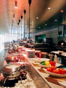 Breakfast at Nassima Royal Hotel.