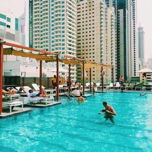 Pool at Nassima Royal Hotel.