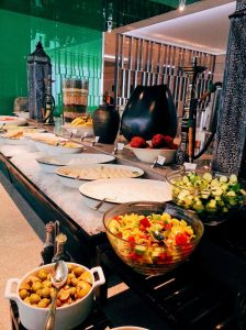 Food at Nassima Royal Hotel.