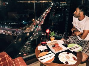 Dinner with a view at Hotel Jen Manila.