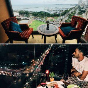 Views day and night at Hotel Jen Manila.