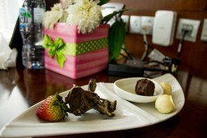 Chocolates at Nassima Royal Hotel.