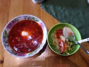 Loving borscht when travel Russia.
