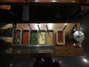 Various shabushabu sauces, a Chinese cuisine dinner treat with Mango Hotel Valley Subic.