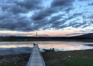 Sunset at Yukon.