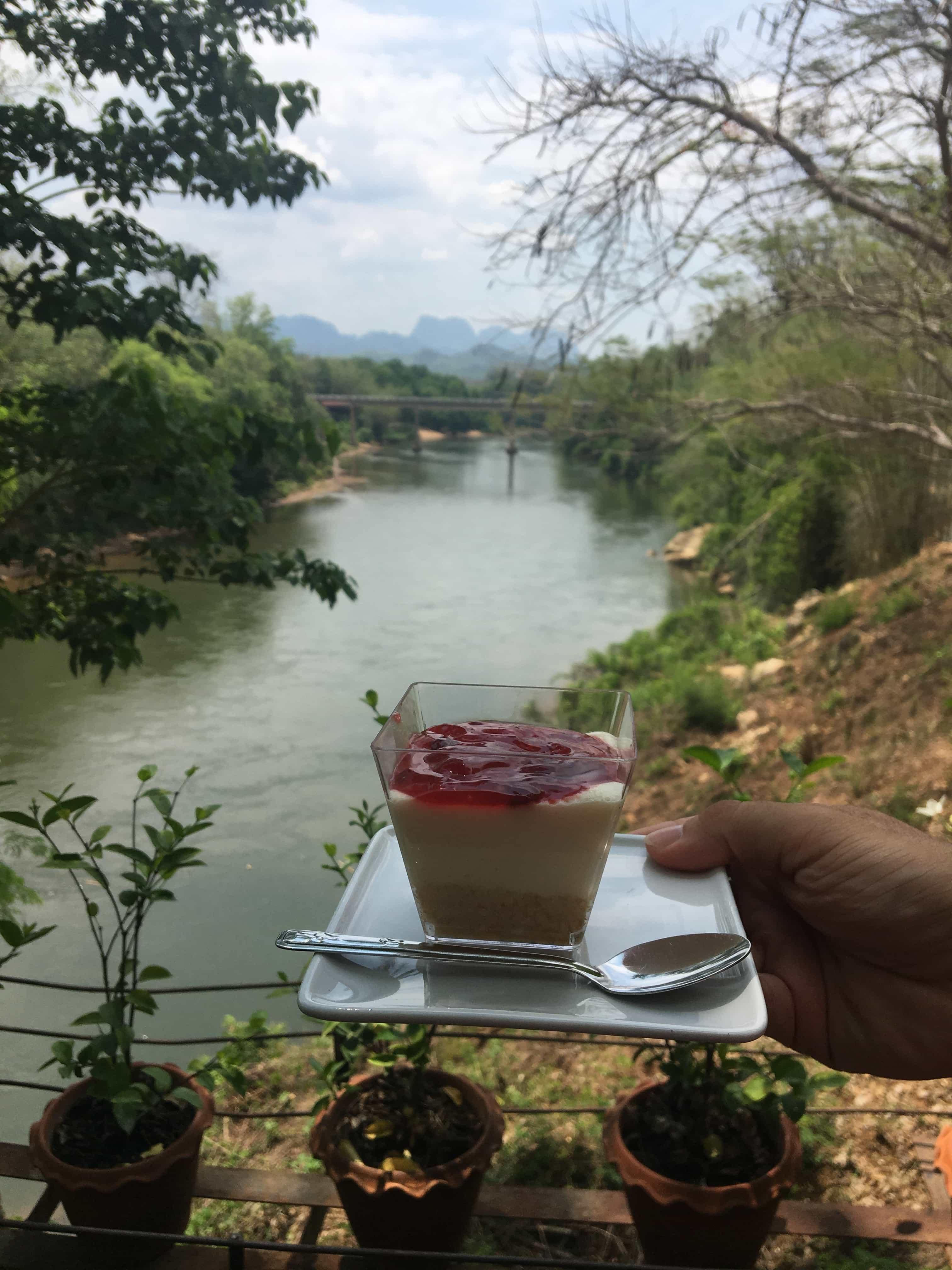things to do in kanchanaburi, Rim Nam Café