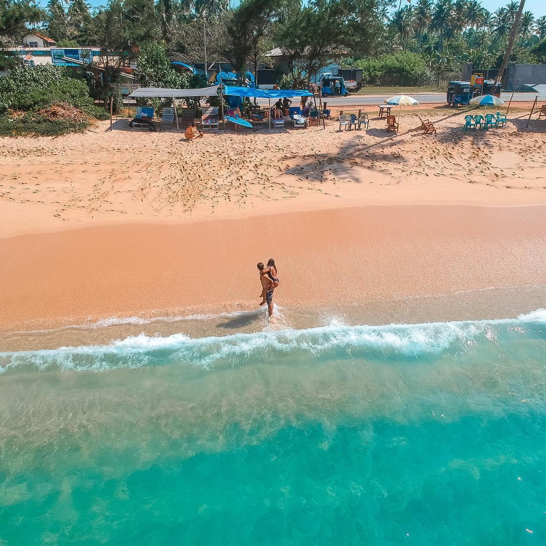 Flying the drone in Sri Lanka