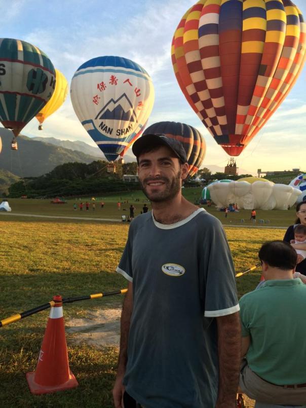 hot air baloon in Pushkar