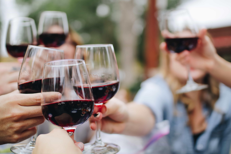 drinking wine in Segovia