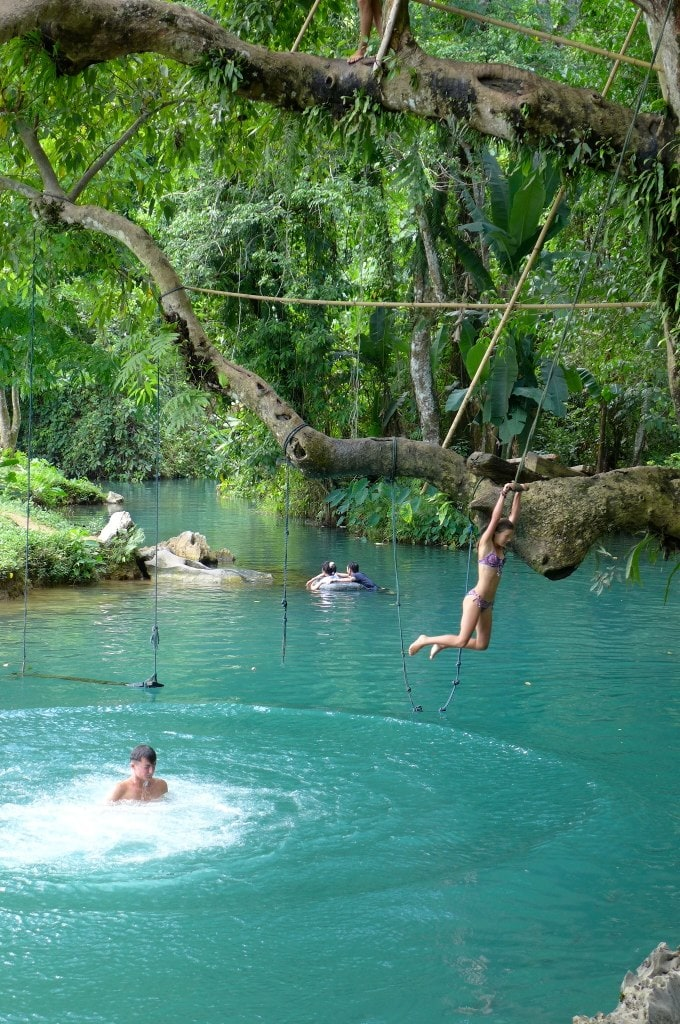 Blue Lagoon Vang Vieng, Vang Vieng, Instagrammable places in Laos