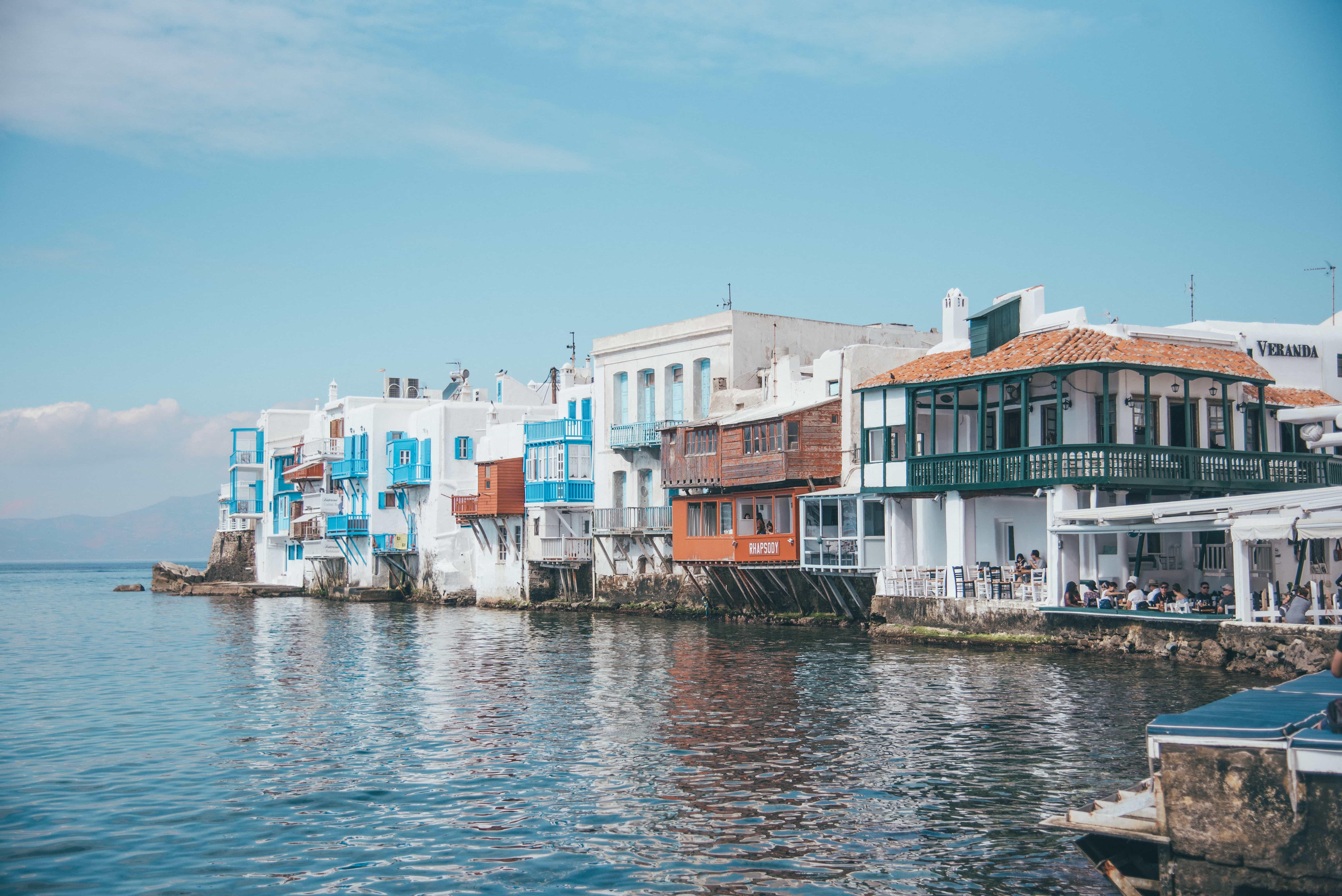 instagrammable places in Greece, Little Venice Mykonos