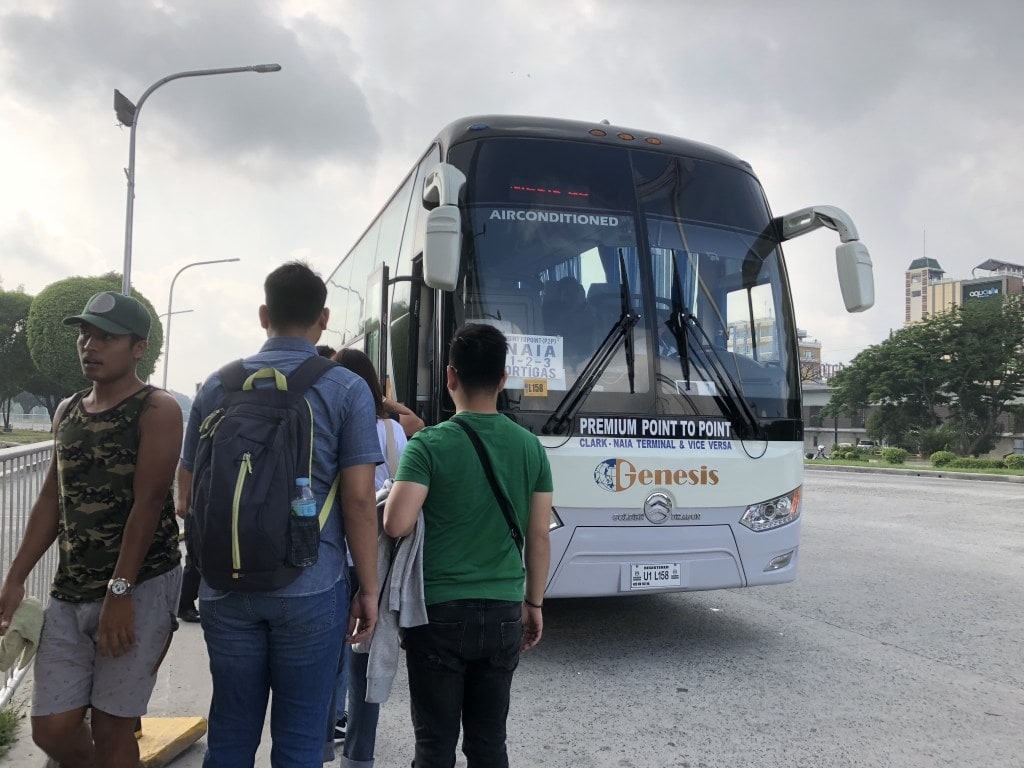 How to get from Clark International Airport to Manila, P2P bus