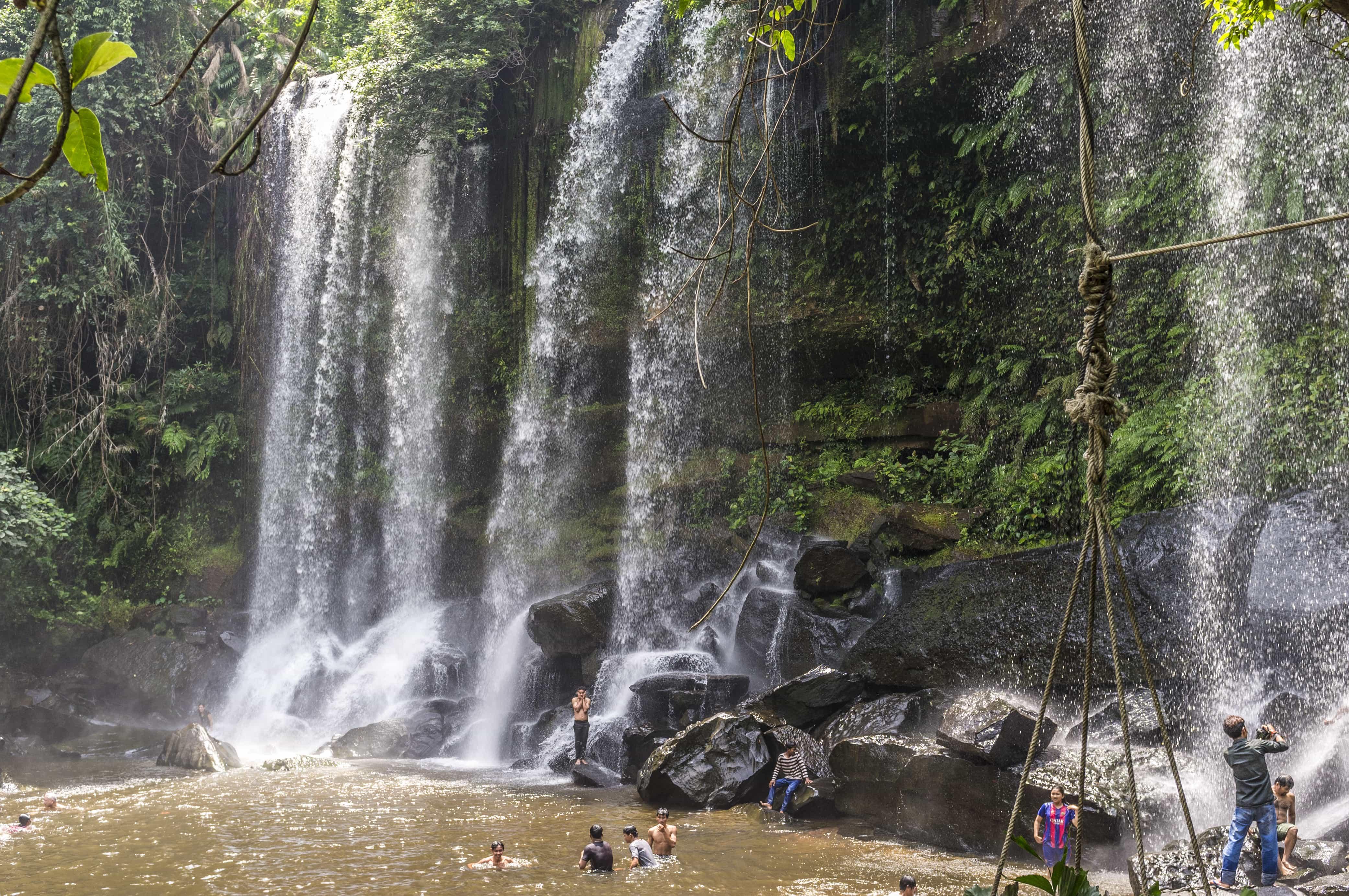 Cambodia Tourist Spots, Phnom Kulen Waterfalls