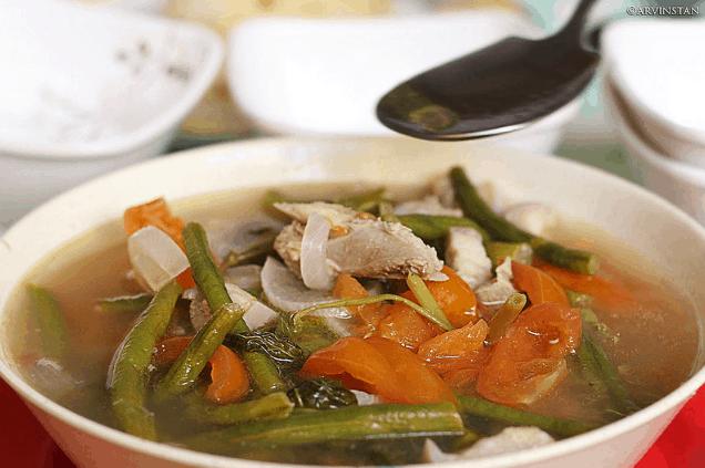 Sinigang, traditional Filipino food