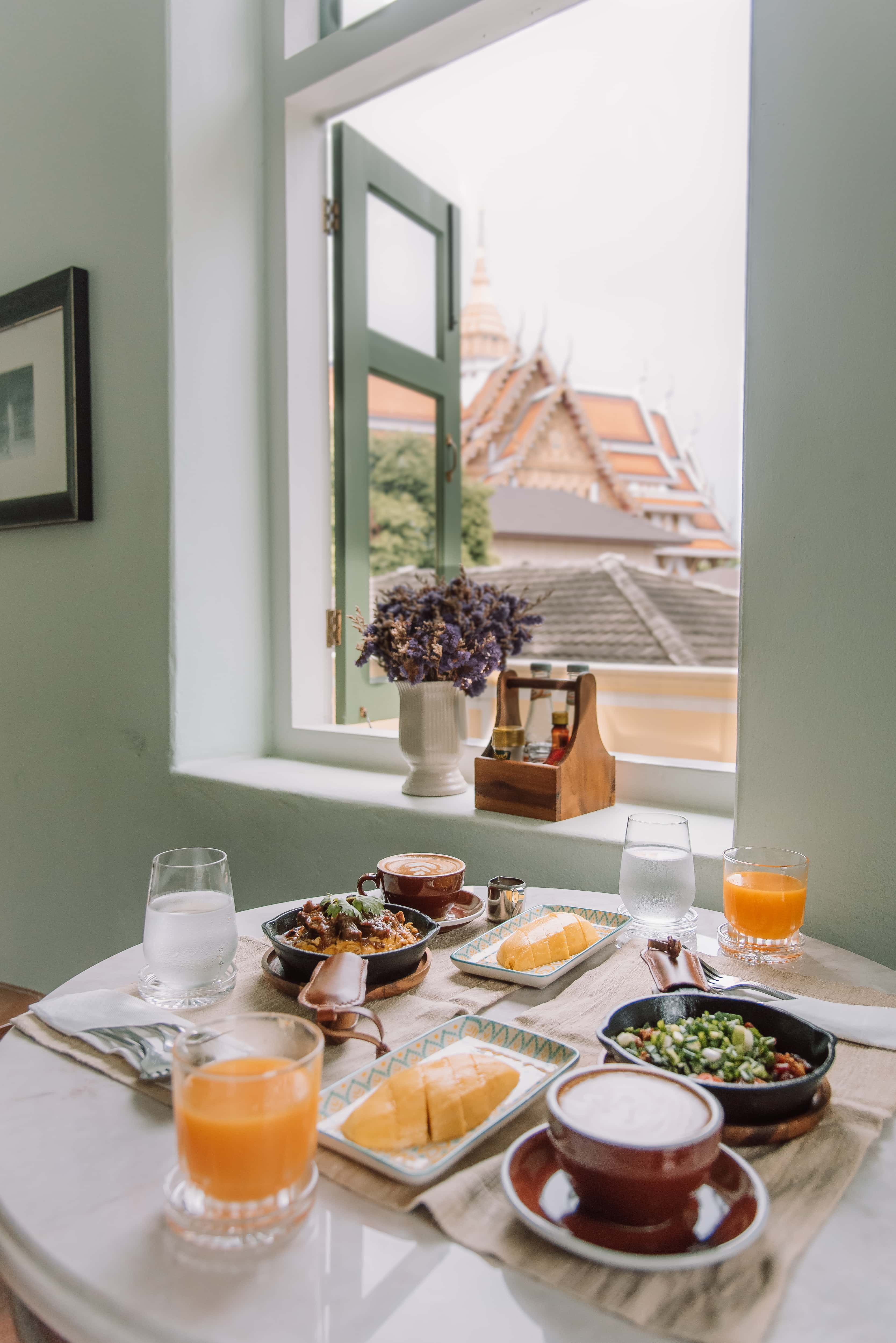 breakfast with a view, Baan 2459, Chinatown Bangkok