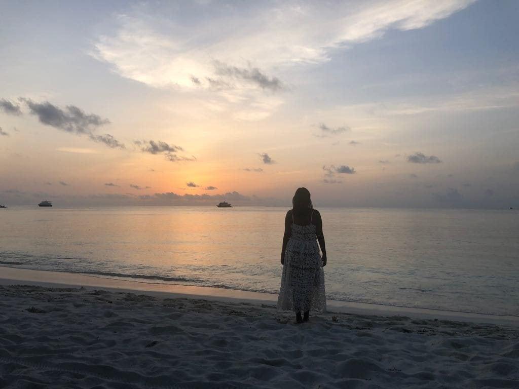 sunset in Maafushi
