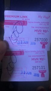 Ferry ticket Male to Hulhumale