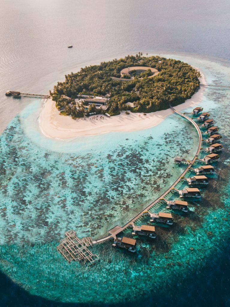 Drone shot Park Hyatt Maldives
