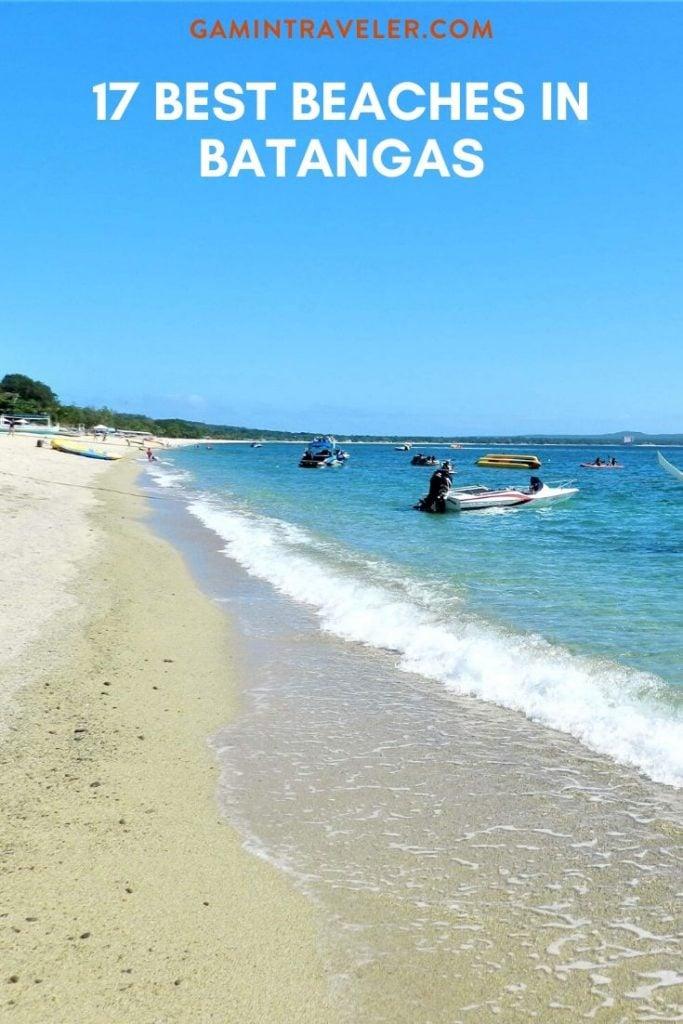 Beaches in Batangas