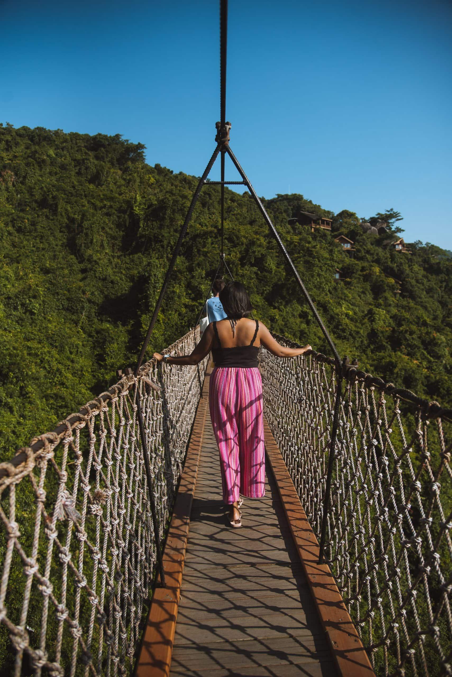 things to do in Sanya, Sanya travel guide, hanging bridge in Sanya