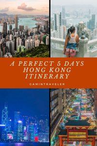 5 DAYS HONG KONG ITINERARY