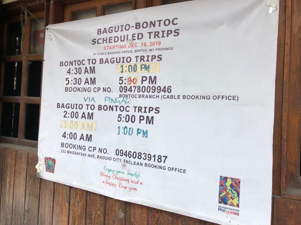 Baguio to Bontoc,