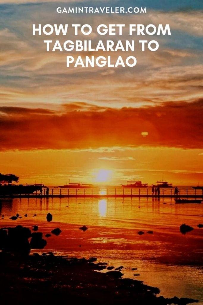 TAGBILARAN TO PANGLAO