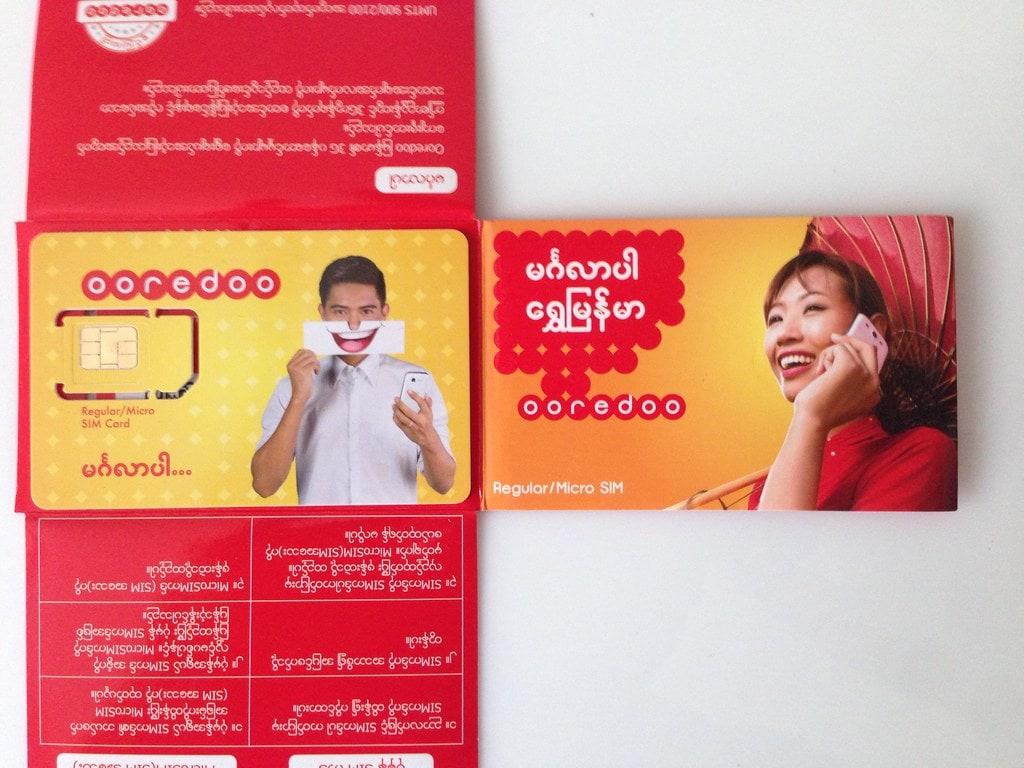 Ooreddo, myanmar tourist sim card, myanmar prepaid sim card, Myanmar sim card, yangon airport sim card, best sim card myanmar, myanmar pocket wifi, sim card in myanmar