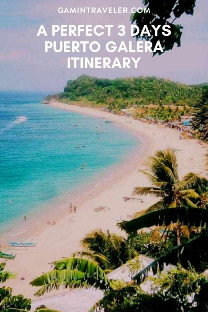 Puerto Galera Itinerary