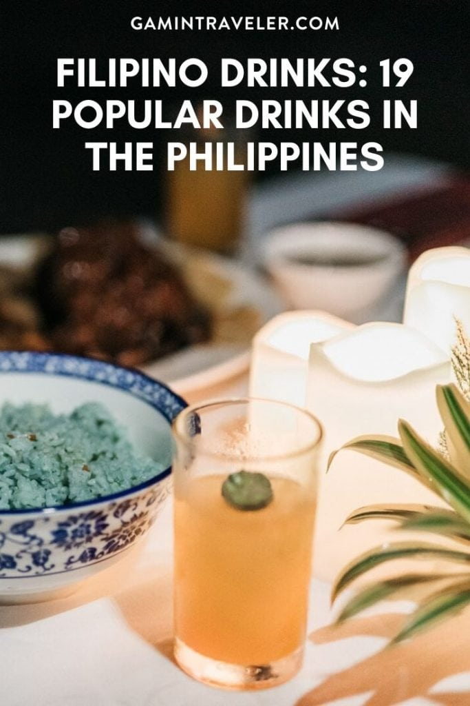 filipino drinks, drinks in the philippines, philippines drinks, filipino beers