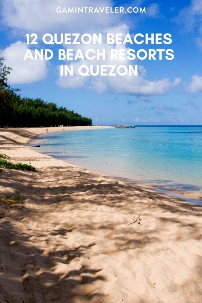 beach resorts in quezon, beaches in quezon, quezon beaches