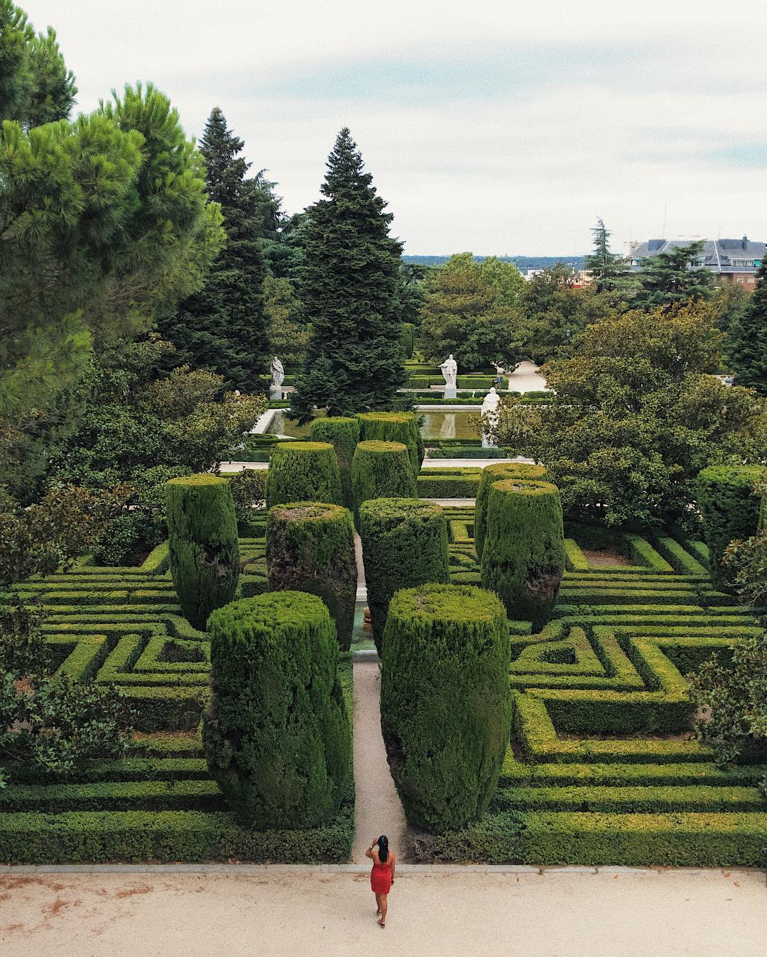 sabatini gardens, Madrid Instagram Spots, most instagrammable places in madrid