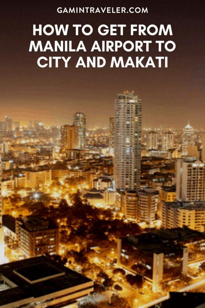 manila airport to city, manila airport to makati
