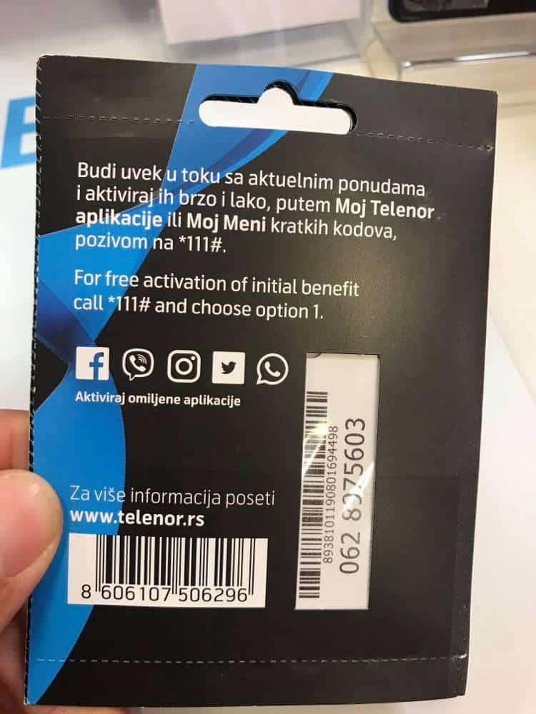 serbia sim card, serbia prepaid sim card, Telenor Serbia