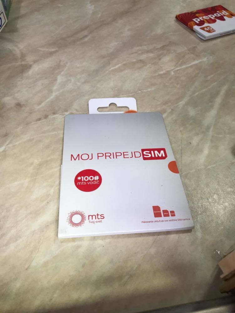 serbia sim card, serbia prepaid sim card , MTS Telekom Serbia