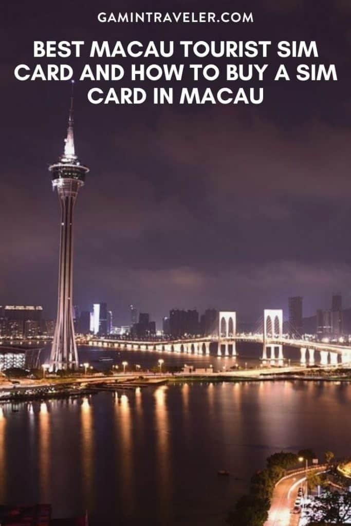 Macau tourist sim card, macau sim card, sim card in macau, macau prepaid sim card,