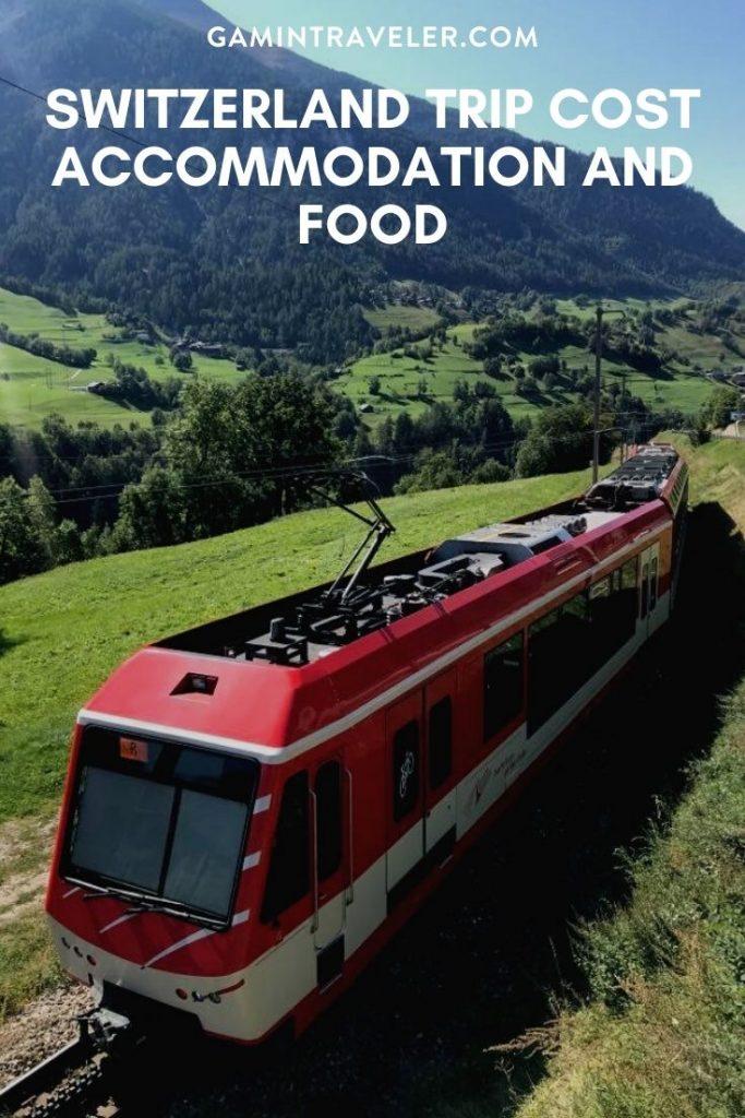 Switzerland trip cost