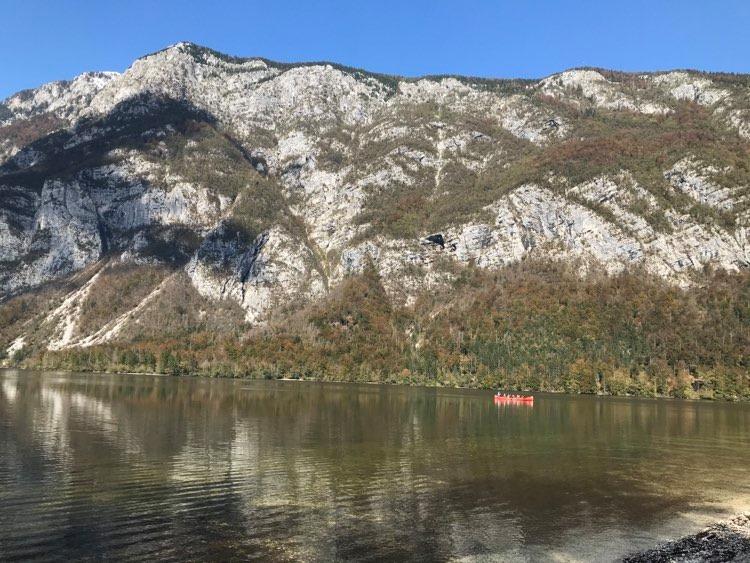 Kayaking at Lake Bohinj.