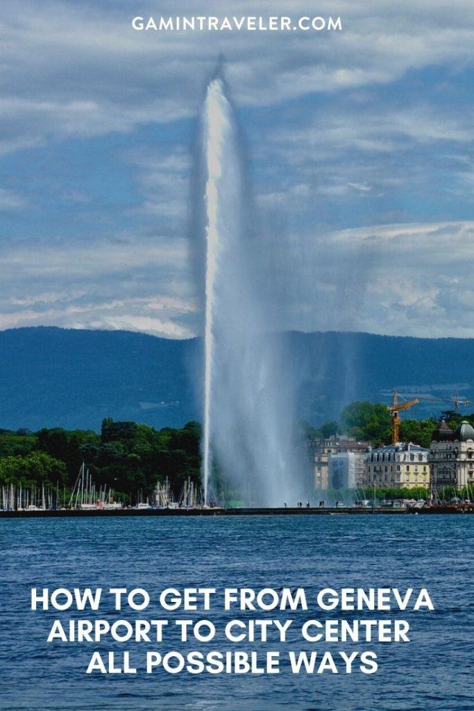 geneva airport to city, geneva airport to train station, How To Get From Geneva Airport to City Center