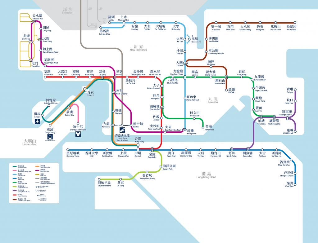 MTR Hong Kong Map, hong kong airport to city, hong kong airport to city center, How To Get From Hong Kong Airport to City Center