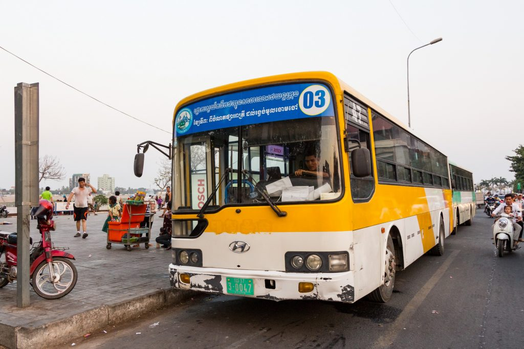 How To Get From Phnom Penh Airport To City, City Bus 3 Phnom Penh airport
