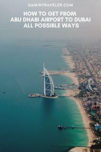 Abu Dhabi airport to dubai, How To Get From Abu Dhabi Airport To Dubai
